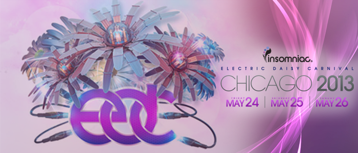 [EDC] Electric Daisy Carnival 2013 (Chicago) Mixes – Day 2 (25-05-2013) [Downloads]